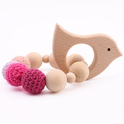 baby tete Holz Beißring Armband Bio Rassel Tier geformt Montessori Spielzeug Mama Kinder Dekoration...