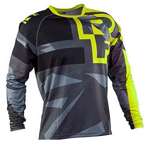 KKQTMY Jerseys de descenso para hombre RACE FACE Camisas MTB de bicicleta de montaña Offroad DH Jersey de motocicleta Motocross Ropa deportiva FXR-L