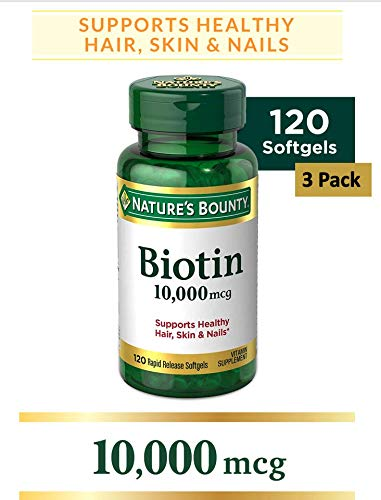 Nature's Bounty Biotin 10,000 Mcg, Supports Healthy Hair, Skin and Nails, Rapid Release...