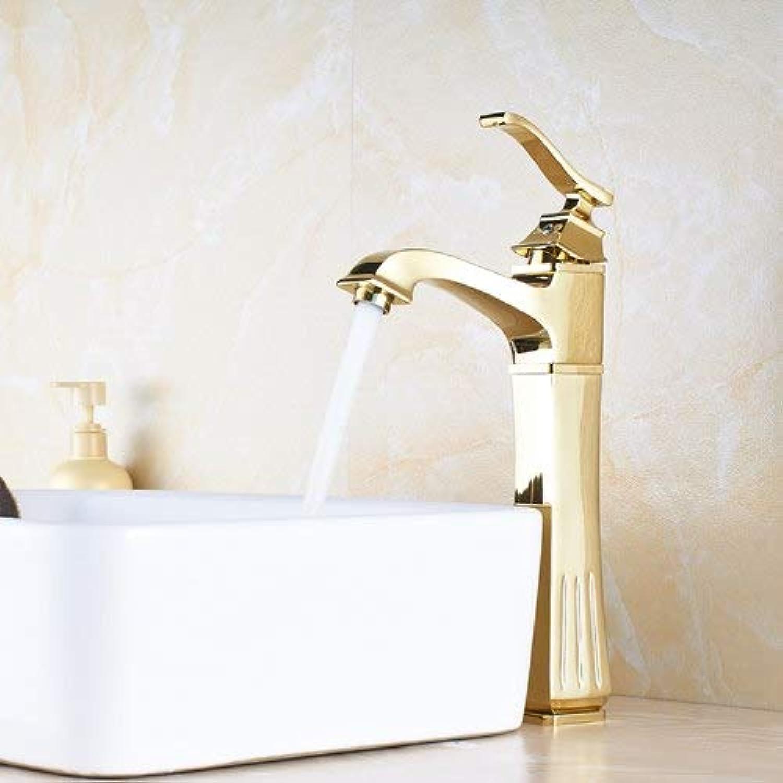 U-Enjoy Kronleuchter Farben Wasser 4 Taps Mounted Top-Qualitt Badezimmer Deck Toilette-Wannen-Mischer Mit Einer Handlefaucet Kostenloser Versand [Golden]