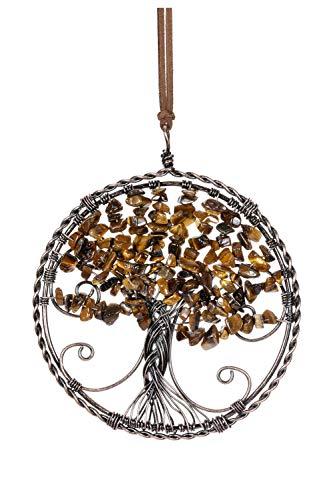 Jovivi 7 Chakra Edelstein Sonnenfänger Baum des Lebens Anhänger Händendes Ornament Wand Fenster Hängedeko Feng Shui Dekoration