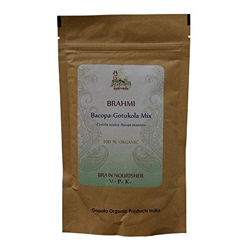 BRAHMI (Centella asiatica, Bacopa monniera) BIO en poudre (100 g) - Plante Ayurvédique Traditionnelle pour nourrir le cerveau