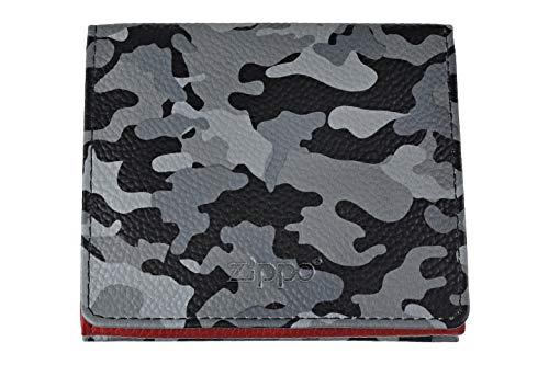 Zippo Leather double sided wallet Portamonete 10 centimeters  Grigio (Grey Camouflage)