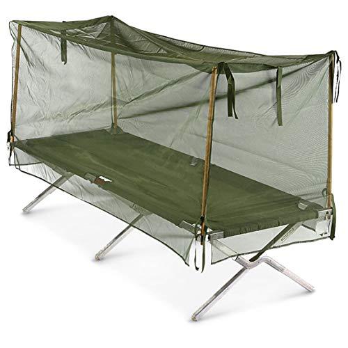 Surplus U.S. Military Mosquito Net with Poles, New