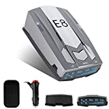 Radar Detector for Cars, Laser Radar Detectors Voice Alert and Vehicle Speed Alarm System City/Highway Mode Radar Detector with LED Display and Car 360 Degree Automatic Detection