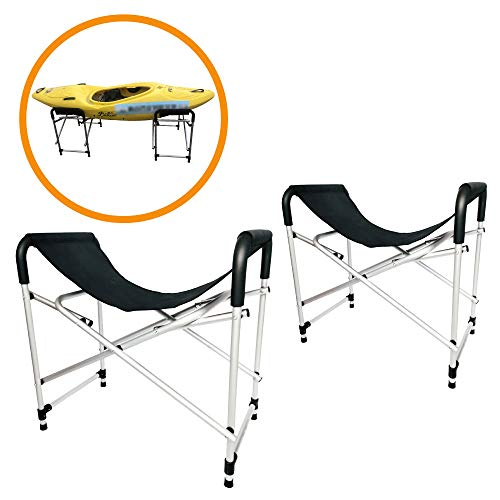 Onefeng Sports Foldable Kayak Ground Storage Stand Rack for Kayak Surfboard SUP Canoe - 29' Tall