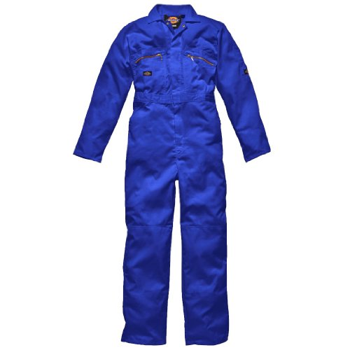 Dickies Men's Redhawk Workwear Zip Front Overall Royal 52/L