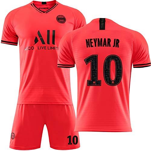 RHSD Fußballanzug für Erwachsene Kinder, Trikots von Mbappé Neymar Paris, Fußballuniformen für Fans, anpassbar-Orange10-26
