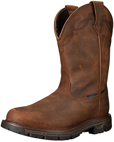 ARIAT Men's Insulated Conquest Waterproof Pull-On Hunting Boot Round Toe Brown 14 D(M) US