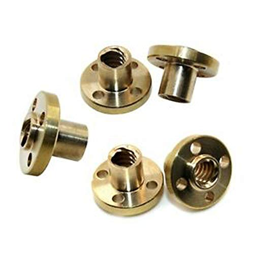 T8 Screw Nut Trapezoidal For 8mm T8 Lead Threaded Rod CNC Linear Rail 3D Printer Reprap Parts Z Axis (Pack of 5)
