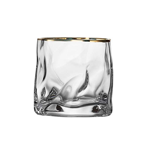 Whisky Klar Kristallglas Weingläser, Haushalt Phnom Penh Kristall Unregelmäßige Bier Becher 4 Stück