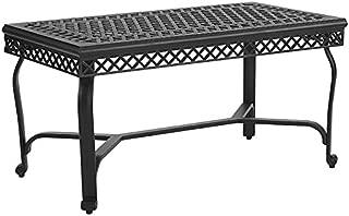 Crosley Furniture CO6203-BK Palermo Outdoor Aluminum Coffee Table, Black