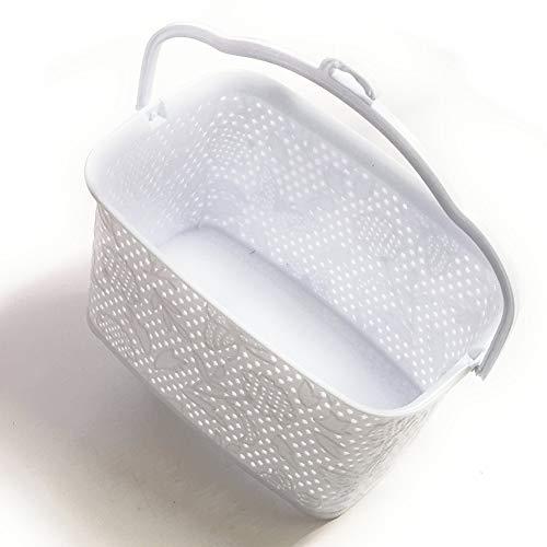 Kerafactum Kim Kranholdt GmbH - Cestino per mollette da appendere con clip, per riporre le mollette e i cestini per la biancheria, colore: Bianco
