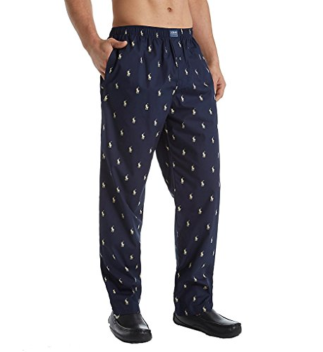 POLO RALPH LAUREN All Over Pony Player Woven Pants Navy/Cream Pony MD
