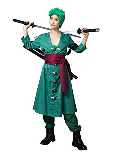 CosFantasy Classic Anime Roronoa Zoro Cosplay Costume Full Set mp004114 (Men XL)