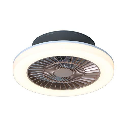 Ventilador de Techo con Luz Lámpara LED 75W Ventilador Invisible Plafon Control Remoto con Mando a Distancia Luz Regulable Luz Fría/Neutra/Cálida Luces Regulable,ventilador techo, Φ50*H15cm