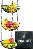 Chefarone Obstkorb zum Aufhängen - 130cm Küchenampel für mehr Platz auf Ihrer Arbeitsplatte - Obst Hängekorb Küche - Obstschale hängend