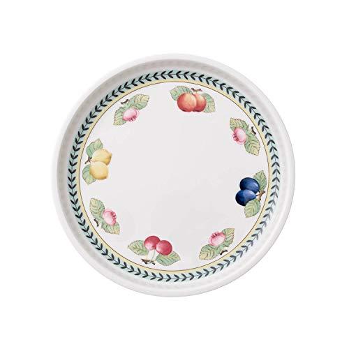 Villeroy & Boch French Garden Plat de service, 26 cm, Porcelaine Premium, Blanc/Multicolore