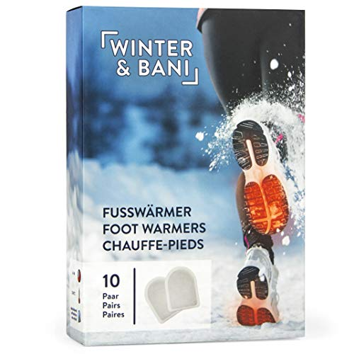 Winter & Bani Wärmepads 10 x 2 Stück – 8 Stunden warme Füsse – Extra dünne Fußwärmer Pads – Natur pur – Sofort einsatzbereit – Selbstklebend