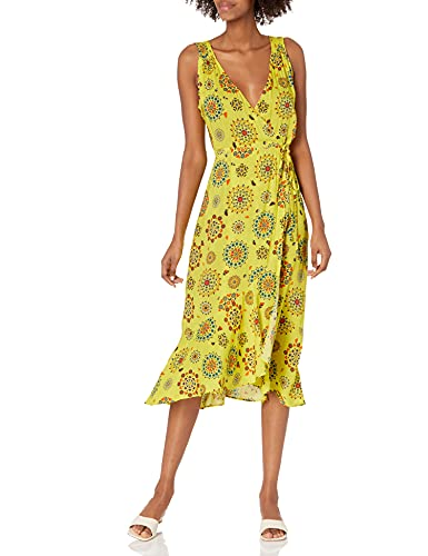 Desigual Vest_Santorini Swimwear Cover Up, Amarillo, L para Mujer