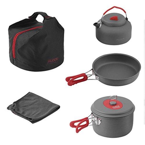 OUTAD Camping tragbar Kochen Set Kochgeschirr Picknick Wander Kocher Set