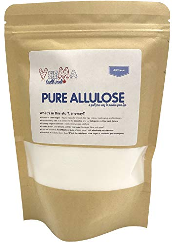 Allulose - Zero Calorie Sweetener | Keto, Low-Carb, and Diabetic Approved Sugar Alternative / Substitute | Absolutely NO Aftertaste | Browns and Bakes just Like Real Sugar! | Non-GMO | 400 Grams