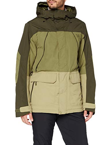 Burton Herren Snowboard Jacke Breach, Forest Night/Martini Olive/Kelp, XL, 10180107300