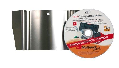 Multipick Original: Türfallengleiter 35 mm inkl. Profi-Anleitung auf DVD
