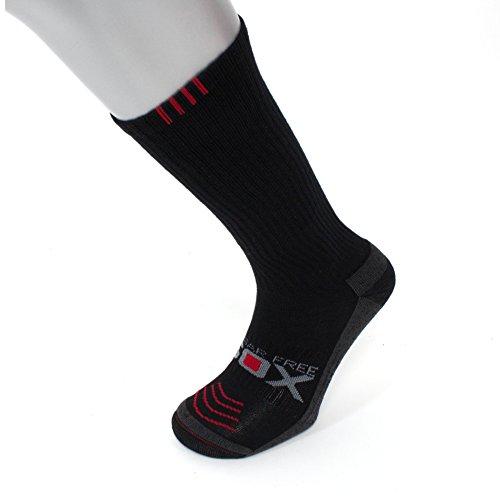 Compression Socks | Big & Tall Mens Black (1 pair) | 8-15 mmHg | Size 13-16