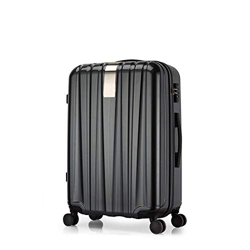"""Luggage Suitcase CMMBB Best Spinner Luggage Suitcase Trolley Case Travel Bag Rolling Wheel Carry-On Boarding Men Women Luggage Trip Journey 16"""" Silkblack"""