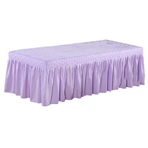 Homyl Couverture de Feuille de Lit Cosmétique Lit De Massage De Spa avec Trou De Visage - Violet Clair