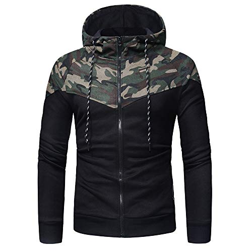 PPPPA Mens 3D Printed Hoodies Comfy Zip Up Hoody Casual Winter Jacket Coats Breathable Hooded Sweatshirt Outwear Mens Pullover Sweater Jumpers Hood Tops Patchwork Running Jacket Tracksuit