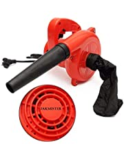 JAKMISTER 600 W, 70 Miles/Hour Unbreakable Plastic Electric Air Blower Dust PC Vacuum Cleaner (Standard Size, Red)