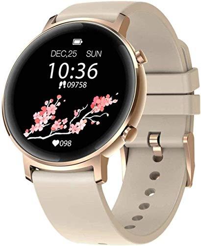 Smart Watch Ip68 - Reloj inteligente para hombre (1,28 pulgadas, resistente al agua, función de cámara de control de calorías, función Android4.4 Ios8.2 pulgadas, color gris metálico