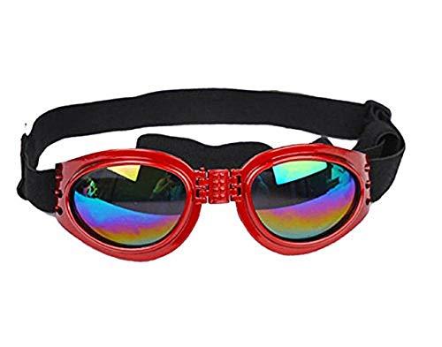 Rood - zonnebril voor honden met verstelbare elastische opvouwbare uv400-bescherming