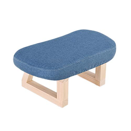 Comfortable Solid Wood Stool Living Room Creative Retro Small Bench Household Adult Wearing A Shoe Bench Sofa Change Shoe Bench Cloth Low Stool practical (Color : 1)