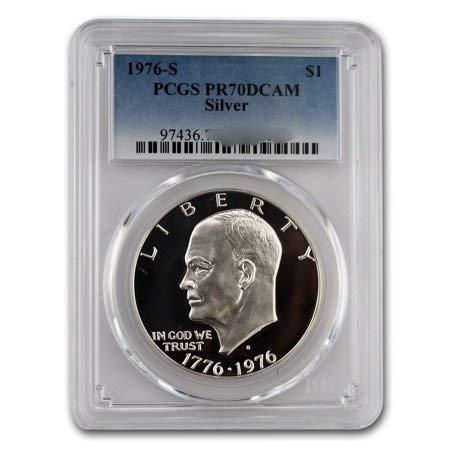 1976 S Silver Bicentennial Eisenhower Ike Dollar $1 PR70DCAM PCGS