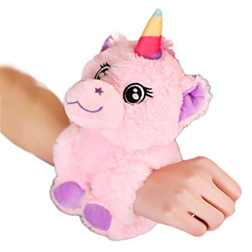 Tianbi Soft Plush Toy,Plush Animal Bracelet, Cartoon Soft Doll Toy Creative Bracelet Slap Bracelets for Kids