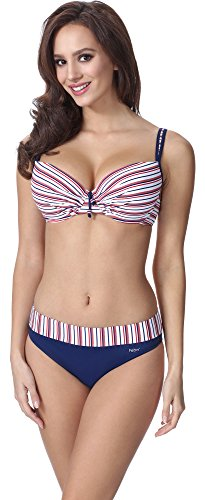 Feba Figurformender Damen Push Up Bikini F01A (Muster-332, Cup 90D / Unterteil 44)