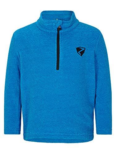 Ziener Kinder JEMIL Skipullover, Skirolli, Funktions-Shirt | Langarm, Atmungsaktiv, Fleece, Warm, Persian Blue, 98