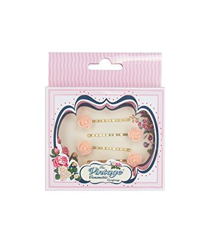 The Vintage Cosmetic Company 4 Petite Fleur Rose épingles