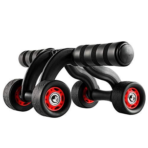 NBLL Bauchtrainings-Fitnessrad, Faltbare automatische Vierräder, Bauchtrainingsgeräte für die Heimfitness, Bauchmuskeltrainingsrad