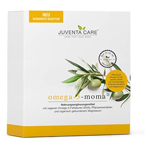 Juventa Care  omega-3-moma- Nahrungsergänzungsmittel - mit veganen Omega-3-Fettsäuren (DHA), Pflanzenextrakten und organisch gebundenem Magnesium, 30 Stück