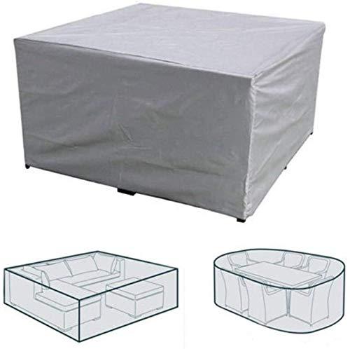 N / A wasserdicht Outdoor-Möbel-Abdeckung L-Form-Corner Garten Innenhof Rattan-Sofa-Couch Schutzabdeckungen Set-Staub-Beweis-Satz 4 Größe XL, 215 x 215 x 87cm Set