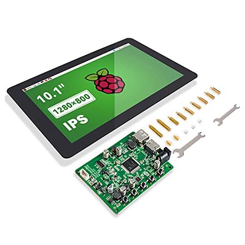 SunFounder Raspberry Pi - Pantalla táctil de 10,1 pulgadas HDMI Pi, pantalla LCD IPS, para Pi 4B 3B+3B 2 Model B, Beagle Bone LattePanda Windows