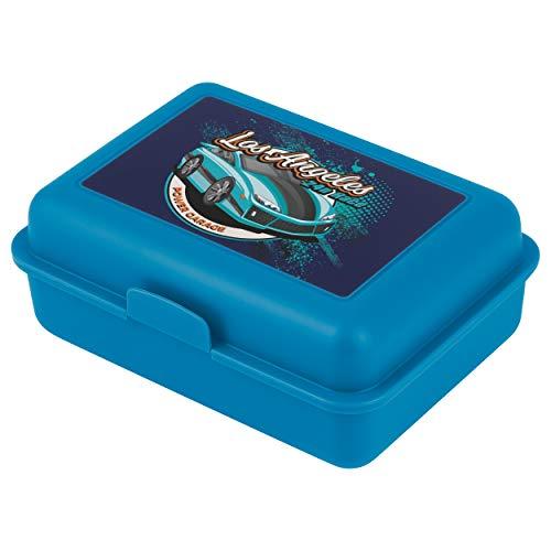 Baagl Brotdose Kinder mit Fächern - Lunchbox mit Trennwand für Schule und Kindergarten - Jausenbox mit Unterteilung für Jungen (Racer)
