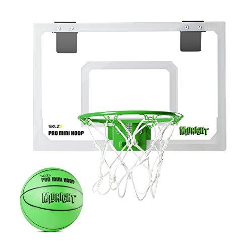 SKLZ PRO Mini Hoop Midnight XL Set Basket Tabellone, Cerchio e Rete, Verde
