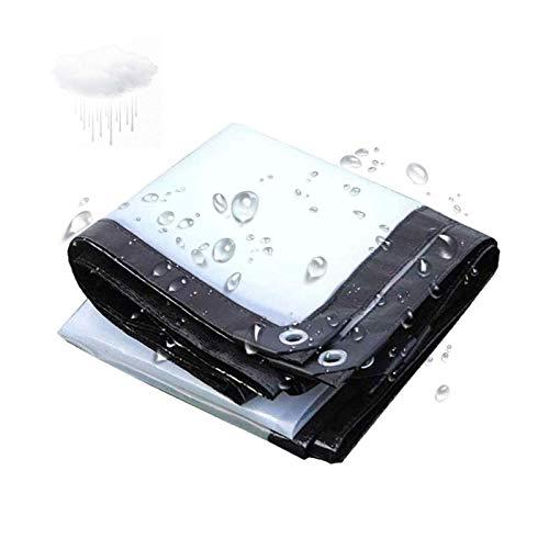 ZHCHL Lona Impermeable Transparente 3x4m, Lona Transparente con Ojales, Lona Impermeable Transparente Exterior, Perforación Borde Balcón Toldo Aislamiento