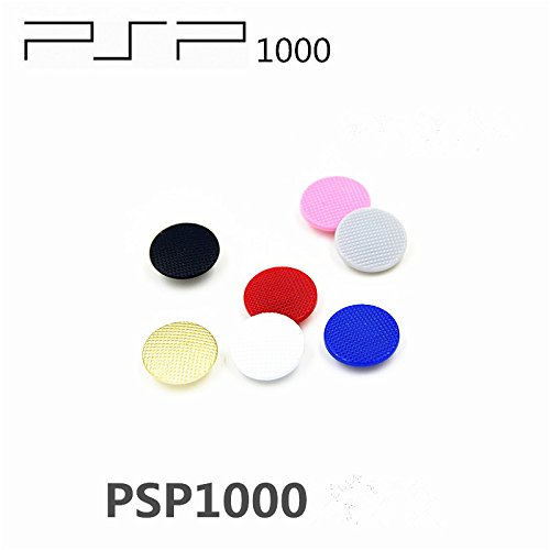 Gametown 7 PCS Analog Joystick Stick Button Controller Cap Thumbstick Cover for Fat PSP 1000 PSP 1001 (Colorful)