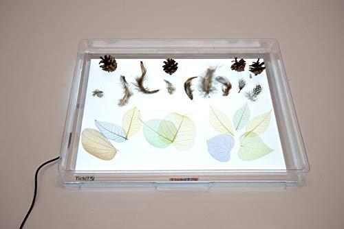 bandeja transparente mesa de luz